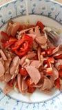Salada da salsicha Foto de Stock