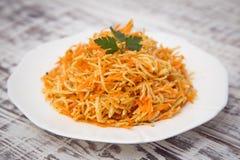 Salada da vitamina com raiz, cenouras e maçãs de aipo Imagens de Stock Royalty Free