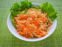 Salada da vitamina com raiz da maçã, da cenoura e de aipo Imagem de Stock Royalty Free