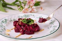 Salada das beterrabas com mostarda Imagem de Stock