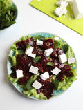 Salada das beterrabas com queijo de feta Fotos de Stock Royalty Free