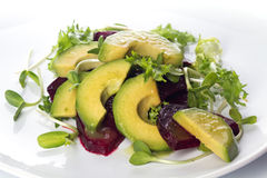 Salada das beterrabas e do abacate Fotografia de Stock Royalty Free