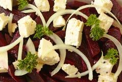 Salada das beterrabas e do feta Foto de Stock