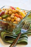 Salada das ervilhas de pintainho Fotos de Stock