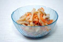 Salada das orelhas e das cenouras da carne de porco Imagens de Stock