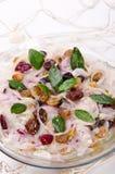 Salada de arenques com airelas Fotografia de Stock Royalty Free