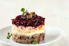 Salada de arenques do russo Imagem de Stock Royalty Free