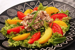 Salada de atum Fotos de Stock Royalty Free