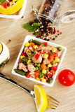Salada de atum Fotografia de Stock