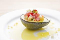 Salada de atum do abacate Foto de Stock