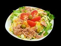 Salada de atum misturada imagem de stock