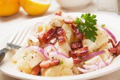 Salada de batata com queijo e bacon fotografia de stock