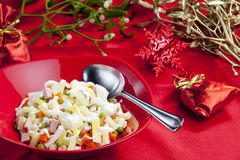 Salada de batata do Natal Imagens de Stock Royalty Free