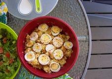 Salada de batata fora Imagem de Stock