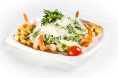 Salada de Caesar com camarões Fotografia de Stock