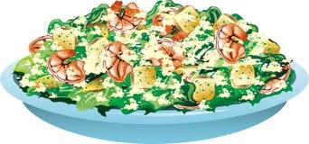 Salada de caesar do camarão Fotografia de Stock Royalty Free