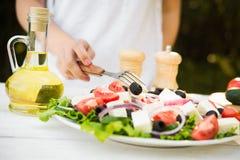 Salada de Caesar fresca Imagem de Stock