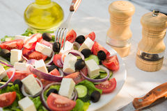 Salada de Caesar fresca Foto de Stock