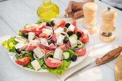 Salada de Caesar fresca Fotografia de Stock