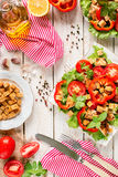 Salada de Caesar no fundo rústico Imagens de Stock Royalty Free