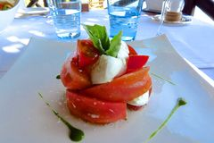 Salada de Caprese Fotos de Stock Royalty Free