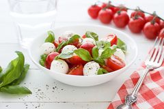 Salada de Caprese Fim acima Foto de Stock