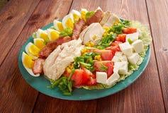 Salada de Cobb imagens de stock