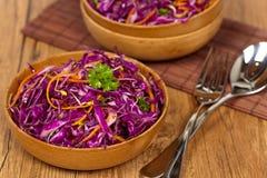 Salada de couve vermelha Fotografia de Stock