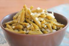 Salada de feijões verdes Imagem de Stock Royalty Free
