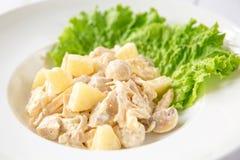 Salada de frango com abacaxi Foto de Stock
