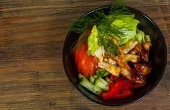 Salada de frango de Teriyaki fotos de stock royalty free
