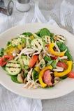 Salada de frango morna com vegetais Foto de Stock Royalty Free