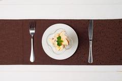 Salada de fruta com creme Imagem de Stock Royalty Free