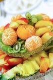 Salada de fruta saboroso Fotografia de Stock