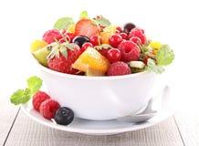 Salada de frutas fotografia de stock