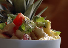 Salada de frutas frescas Fotografia de Stock Royalty Free