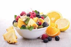 Salada de frutas frescas Fotografia de Stock