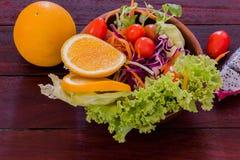 Salada de frutas frescas Imagem de Stock