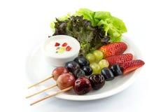 Salada de fruto do BBQ imagens de stock