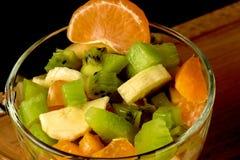 Salada de fruto e segmentos da tangerina Fotografia de Stock