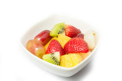 Salada de fruto, estilo de vida saudável fotografia de stock royalty free