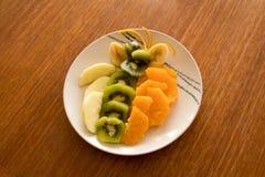 Salada de fruto, fresca e consideravelmente Fotografia de Stock Royalty Free