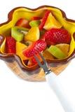 Salada de fruto na bacia Foto de Stock