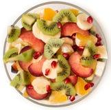 Salada de fruto na bacia de salada Imagem de Stock