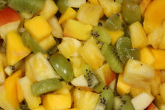 Salada de fruto orgânica imagem de stock royalty free