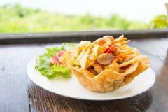 Salada de fruto tailandesa Fotografia de Stock