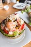 Salada de fruto tropical imagem de stock royalty free