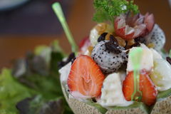 Salada de frutos Imagens de Stock