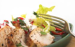 Salada de galinha Foto de Stock Royalty Free