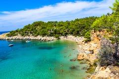 Salada de Ibiza cala da ilha foto de stock royalty free